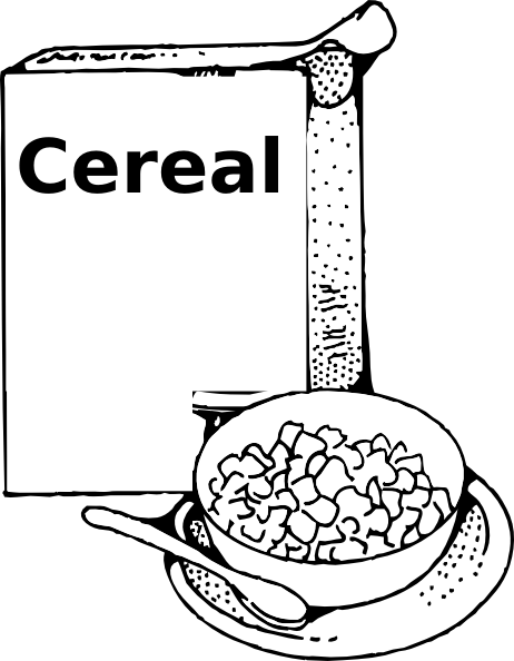 bowl of cereal coloring pages - photo#24