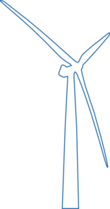 Wind Turbine Offshore White Clip Art