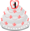 Wedding Cake With Topper Clip Art