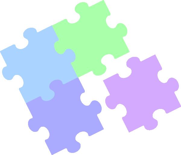 Jigsaw Puzzle Pastel Clip Art At Clker Com Vector Clip