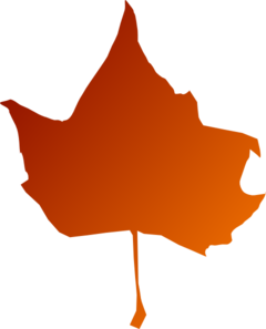 Torn Maple Leaf Red Clip Art