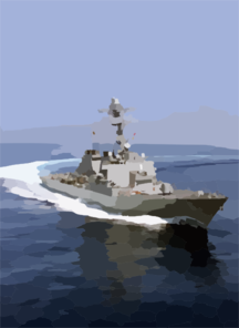 Uss Higgins (ddg 76) Underway. Clip Art