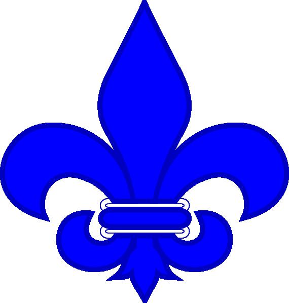 royal blue fleur de lis clip art at clker com vector Fleur D Lis Fleur D Lis