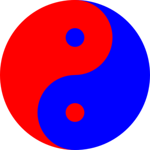 Yinyang Red-blue Clip Art