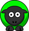 Sheep Green Two Toned Clip Art