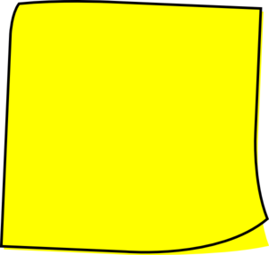 Yellow Note Clip Art