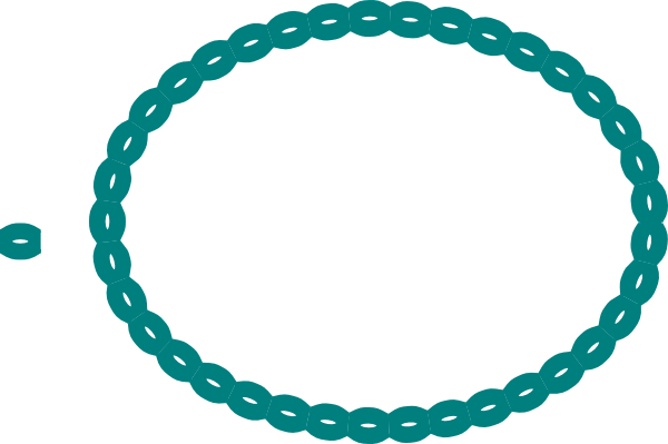 Oval Braid Teal Clip Art At Clker Com Vector Clip Art