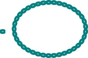 Oval Braid Teal Clip Art