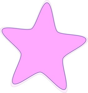 Bright  Baby Pink Star Clip Art