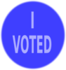Blue Vote Sign Clip Art