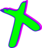 Cross-green Blue Magenta Clip Art