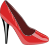 Red High Heeled Shoe Clip Art