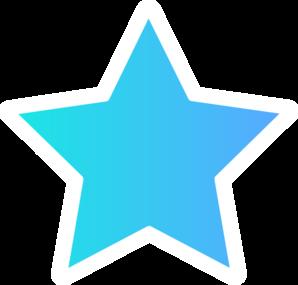 White Blue Star Clip Art at Clker.com - vector clip art ...