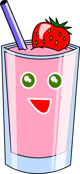 strawberry shake clip art at clkercom vector clip art