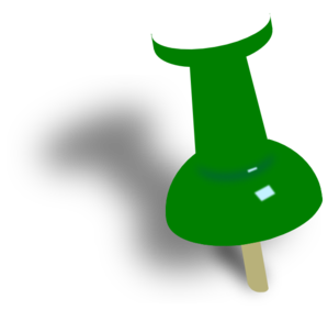 Green Push Pin Clip Art