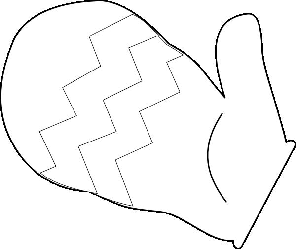 Mitten Outline Clip Art at Clker.com - vector clip art online ...