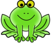 Frog With Glasses Clip Art