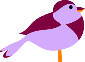 Little Purple Bird Clip Art