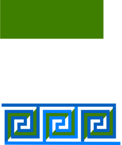 Blue Green Meander Border 3 Turns Clip Art