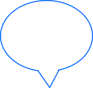 Blue Speech Bubble Clip Art
