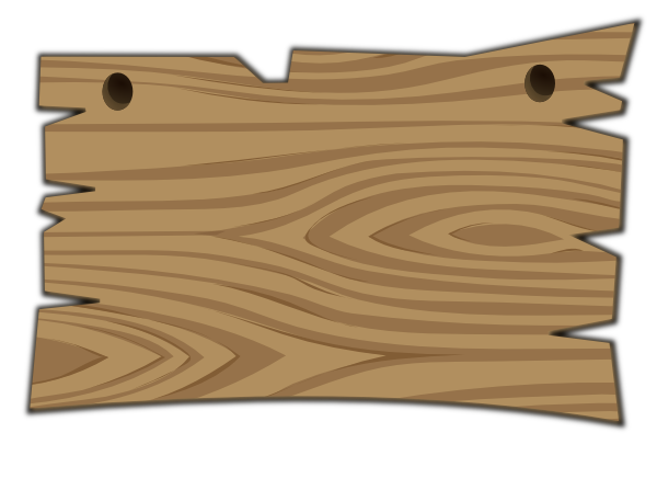 free wood sign clipart 2
