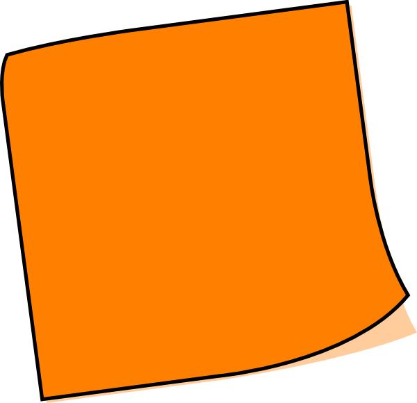 Orange Note Clip Art at Clker.com - vector clip art online ...