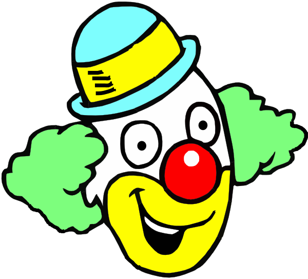 happy clown face clip art at clker com vector clip art online  royalty free   public domain Jellyfish Clip Art Seahorse Clip Art