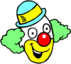 Happy Clown Face Clip Art