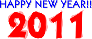 Happy New Year 2011 Clip Art