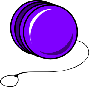 Purple Cartoon Yoyo Clip Art