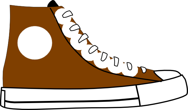 brown shoe clip art at clker com vector clip art online royalty rh clker com shoe clipart black and white shoe clip art borders