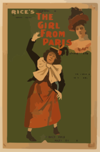 Rice S Production Of The Latest London Novelty, The Girl From Paris Written By George Dance ; Music By Ivan Caryll.  Clip Art