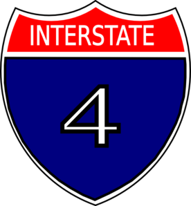 I-4 Sign Clip Art