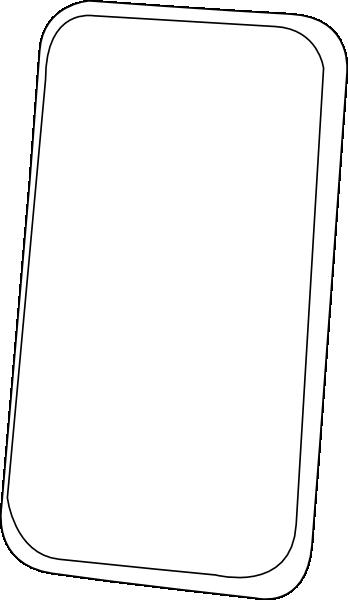 Smart Phone Line Art Clip Art at Clker.com - vector clip ...