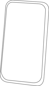 Smart Phone Line Art Clip Art