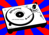 Turntable With Background Clip Art