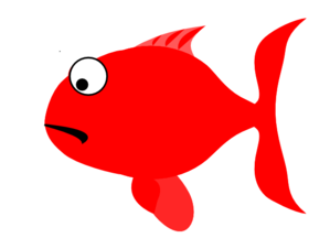 Red Sad Fish Clip Art