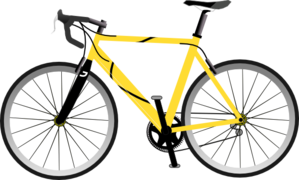 Yellow Bike Clip Art