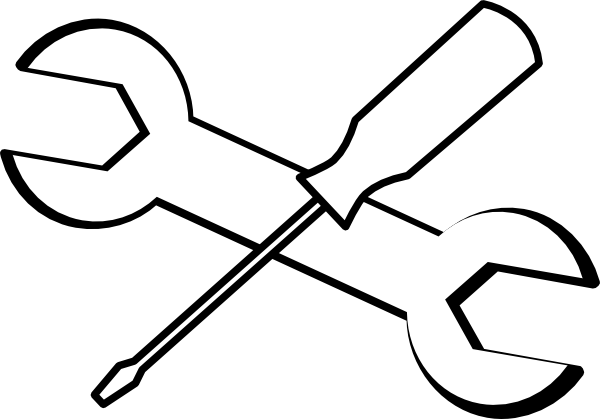 Tools Outline Clip Art at Clker.com - vector clip art ...