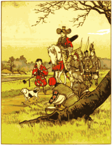 Samurai On A Horse Countryside Clip Art