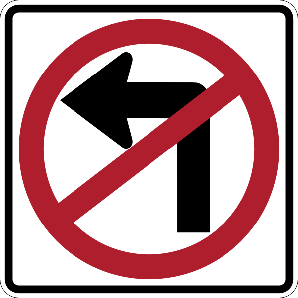 No Left Turn Clip Art at Clker.com - vector clip art ...