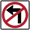 No Left Turn Clip Art