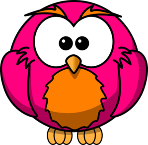Magenta And Orange Hoot Clip Art