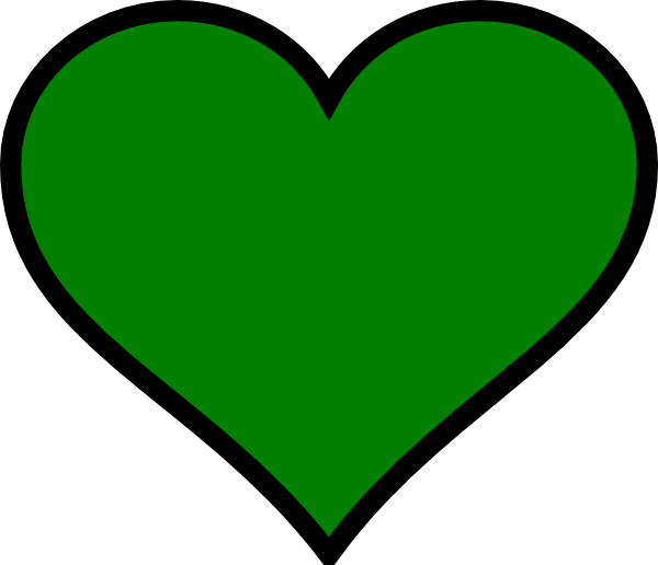 Green heart clip art at vector clip art online for Clipart cuore