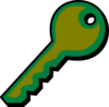 Mustard Green Key Clip Art