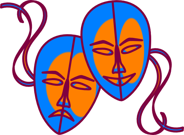 theatre mask clipart. Theatre Masks clip art