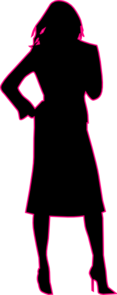 Pink, Black, Business Woman Clip Art