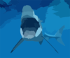 Diving With Great White Sharks Clip Art