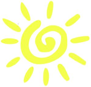 Yellow Lite Sun Clip Art at Clker.com - vector clip art ...