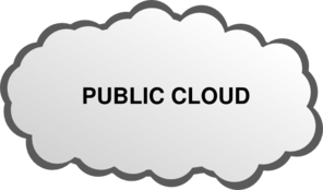 Public Cloud Clip Art